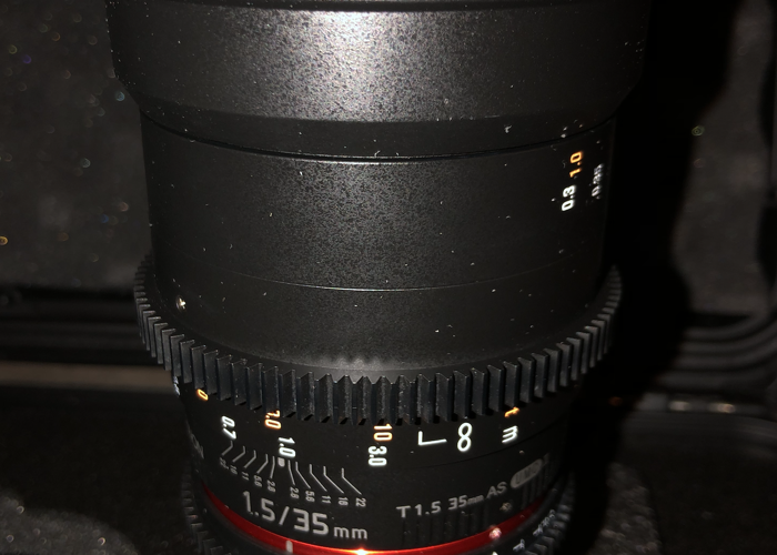 Rokinon 35mm T1.5 Cine VDSLR Wide-Angle Lens for Micro Four  - 2