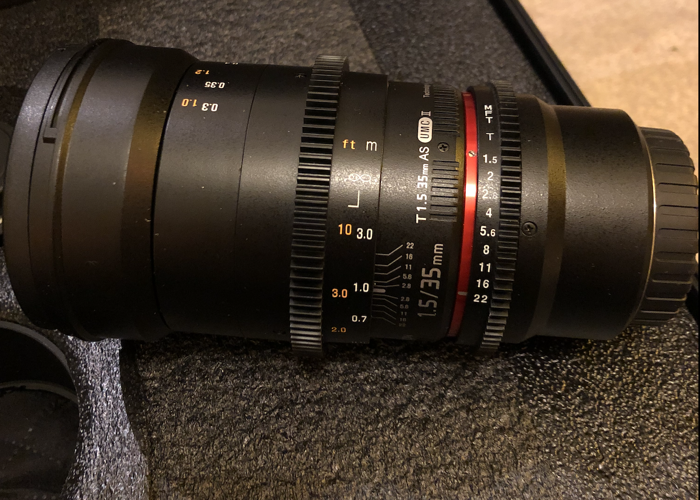 Rokinon 35mm T1.5 Cine VDSLR Wide-Angle Lens for Micro Four  - 1