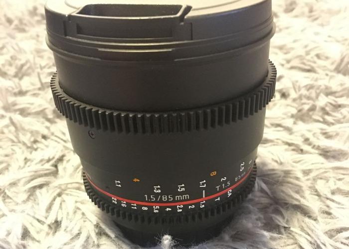 Rokinon 85mm Cine lens T1.5 - 1