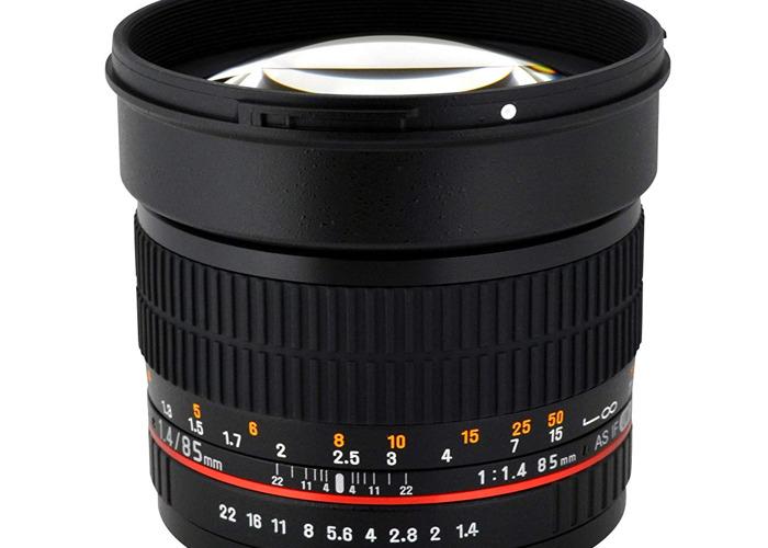 Rokinon 85mm F 1.4 Prime Lens  - 2