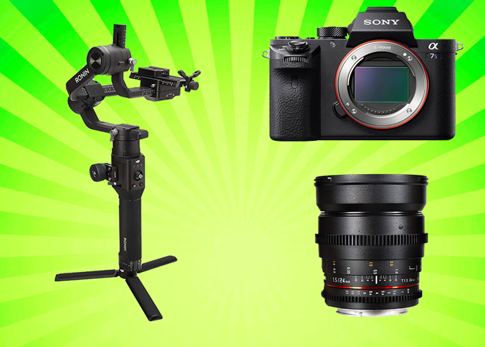 Ronin S + A7sii + Cine Lens + Focus Motor Follow Focus - 1