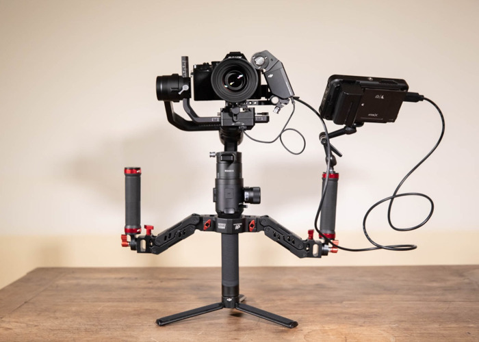 Ronin-S Stabiliser Gimbal, Sony A7s, Samyang 50mm Cine Lens, Ares Dual Spring Handle, Ninja V Monitor, Electronic Follow Focus Package - 2