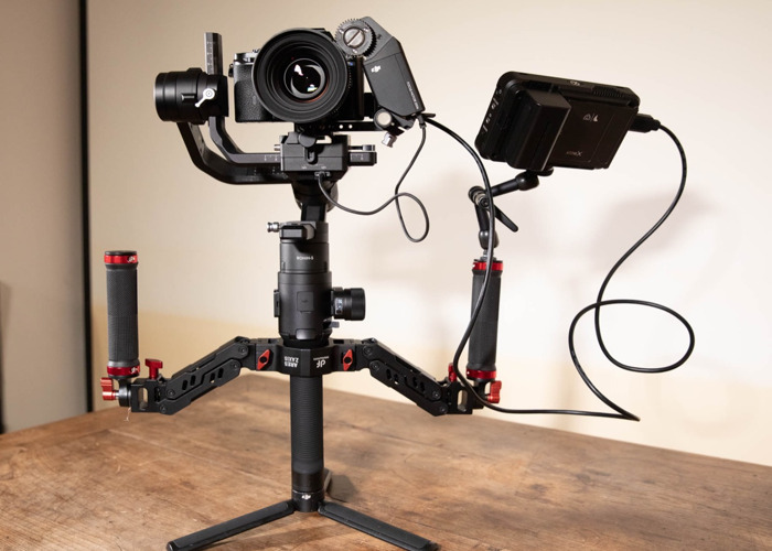 Ronin-S Stabiliser Gimbal, Sony A7s, Samyang 50mm Cine Lens, Ares Dual Spring Handle, Ninja V Monitor, Electronic Follow Focus Package - 1