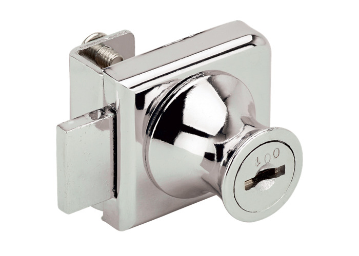 RONIS 31160 Glass Door Bolt Furniture Lock - 19mm CP - 1