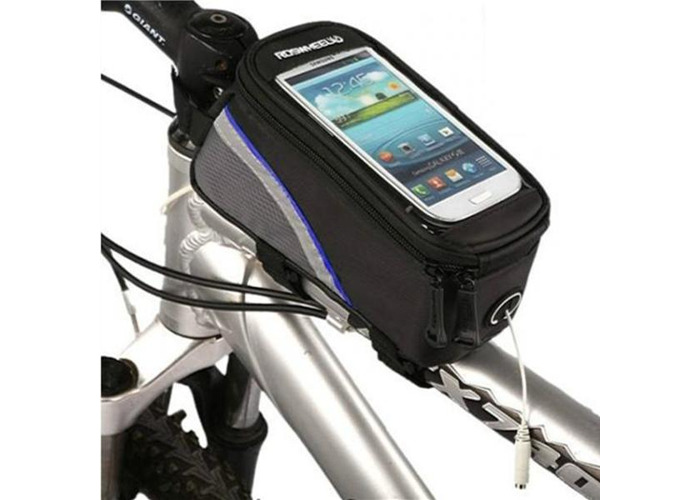 Roswheel Bicycle Bike Frame Front Tube Bag For 4.2 Inch Cell Phone - 1