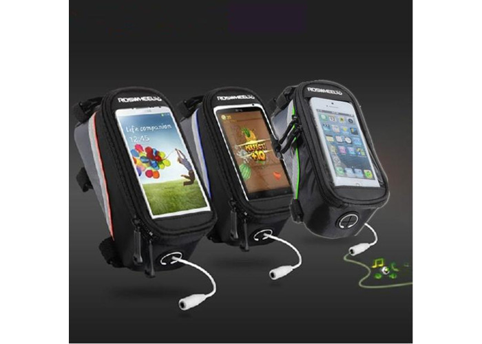 Roswheel Bicycle Bike Frame Front Tube Bag For 4.2 Inch Cell Phone - 2