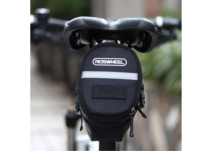 ROSWHEEL Outdoor Waterproof Bicycle Saddle Bag Pouch Tail Rear Storage Seat - 2