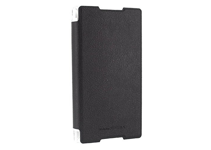 Roxfit Ultra Slim Book Case Flip Cover for Sony Xperia Z3+ (Black) - 1