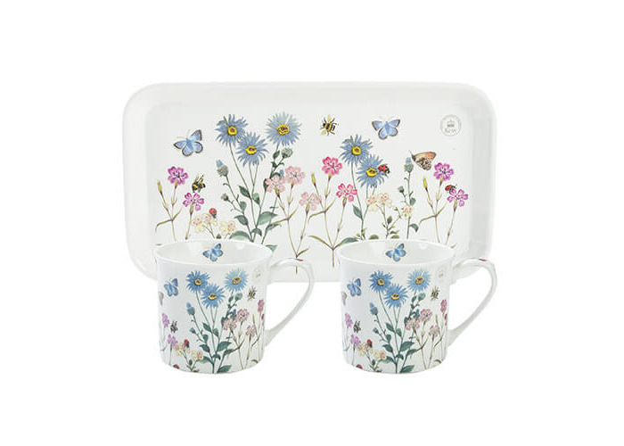 Royal Botanical Gardens, Kew Meadow Bugs Tea For Two Gift Set, White, 3-Piece - 1