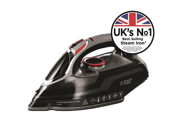 Russell Hobbs 20630 Powersteam Ultra Vertical Steam Iron - Black & Grey - 1