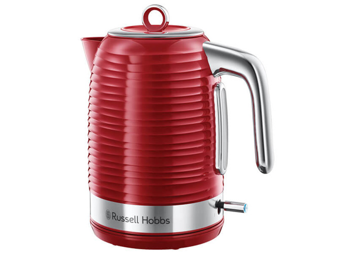 Russell Hobbs 24362 Inspire Electric Kettle, 3000 W, 1.7 Litre, Red with Chrome Accents - 1