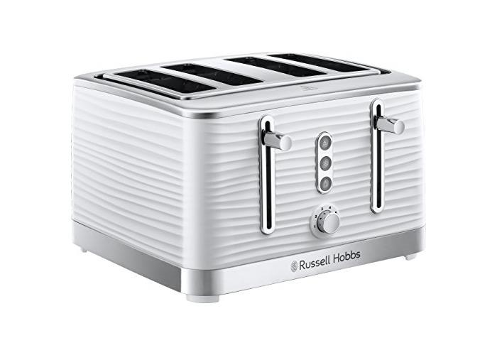 Russell Hobbs 24380 Inspire White High Gloss Plastic Four Slice Toaster, - 1