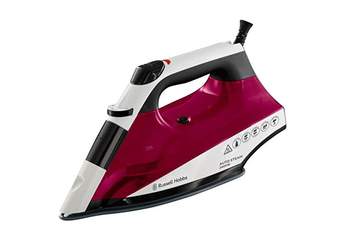Russell Hobbs Auto Steam Pro Non-Stick Iron 22520, 2400 W - White and Red - 2