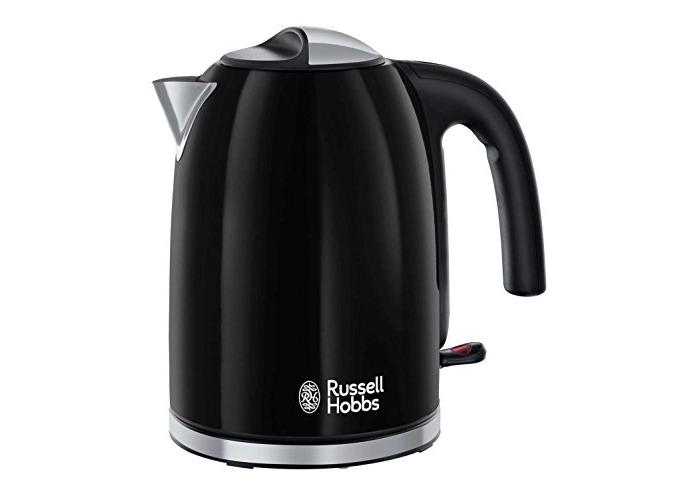 Russell Hobbs Colour Plus Kettle 20413, 3000 W, 1.7 L - Black - 1