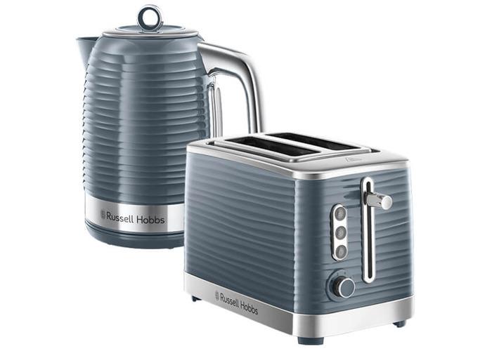 Russell Hobbs Inspire Kettle & 2 Slice Toaster Set Grey - 1