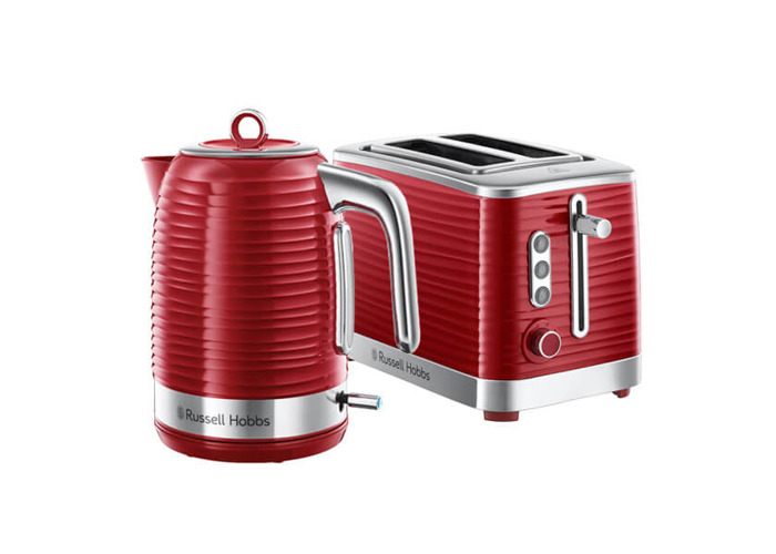 Russell Hobbs Inspire Kettle & 2 Slice Toaster Set Red - 1