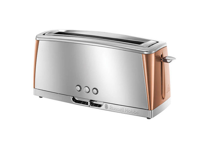 Russell Hobbs Luna Stainless Steel & Copper Long Slot Toaster - 1