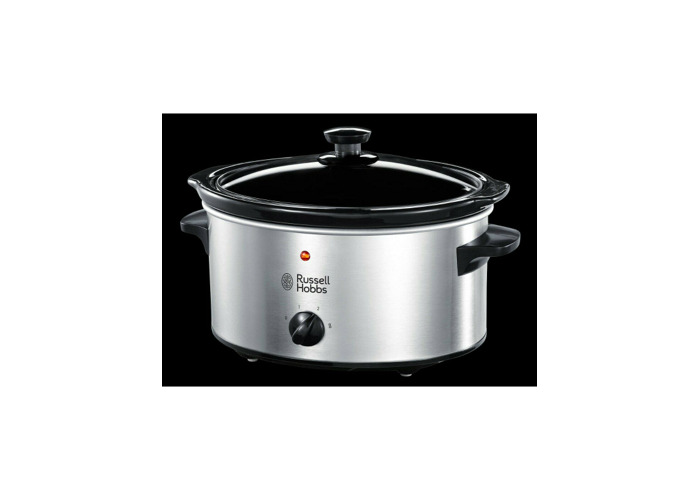Russells Hobbs 23200 Slow Cooker, 3.5L - Stainless Steel Silver - 2