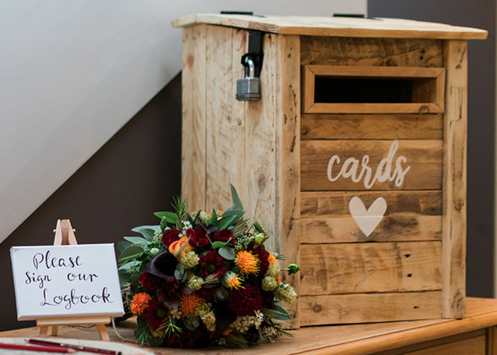 Rustic Wooden Post Box - 1