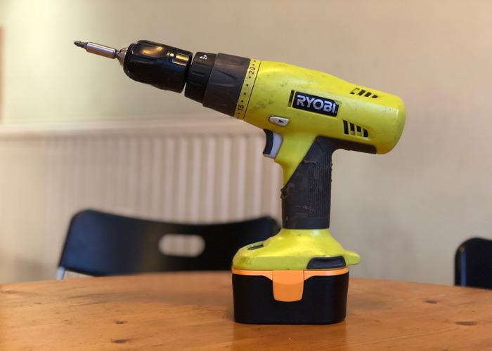 Ryobi 14.4V CHI-1442P Hammer Drill, Bits, Battery & Charger - 1