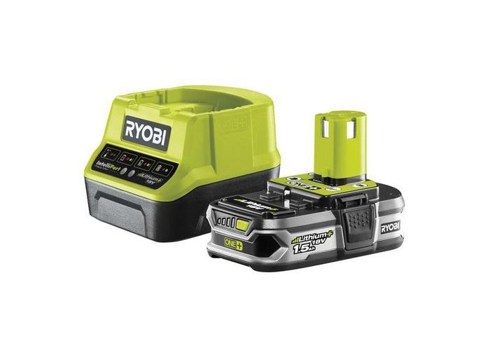 Ryobi 5133003358 RC18120-115 ONE+ Compact Charger 18V & 1 x 18V 1.5Ah Li-ion Battery - 1