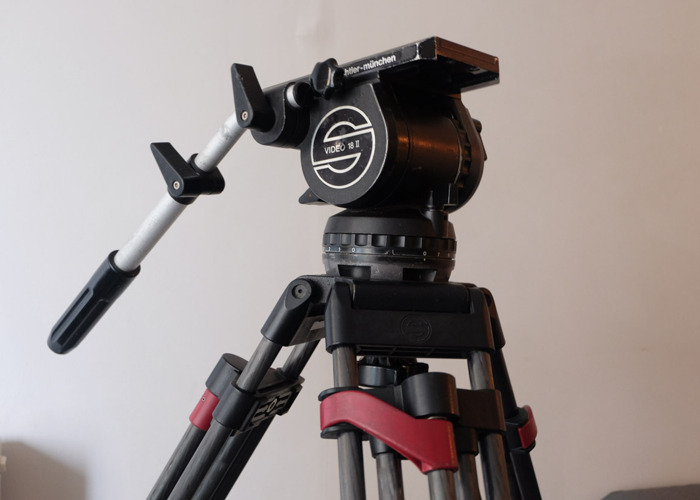 Sachtler Video 18 Tripod - Speed Lock, Carbon Fibre, Rolling Case - 1