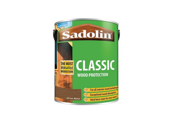 Sadolin 5028485 Classic Wood Protection African Walnut 5 Litre - 1