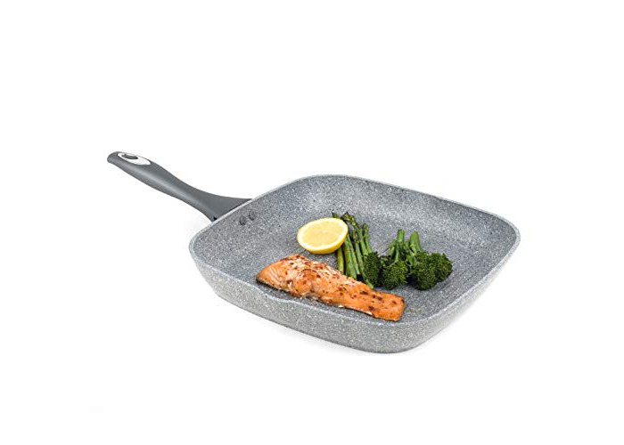Salter BW02773G Marble Collection Forged Aluminium Non Stick Griddle Pan, 28 cm, Grey - 1