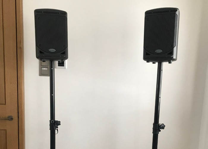 SAMSON XP150 PA (150 watt) with monitor stands - 1