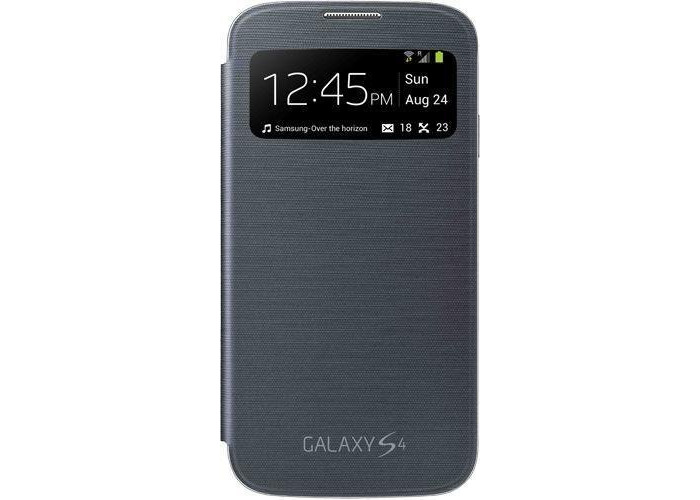 Samsung EF-CI950B S View Case for Galaxy S4 - Black - 1