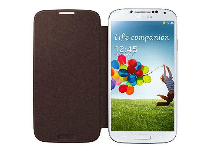 Samsung EF-FI950BAEGWW Flip Cover for Galaxy S4 - Sedna Brown - 2