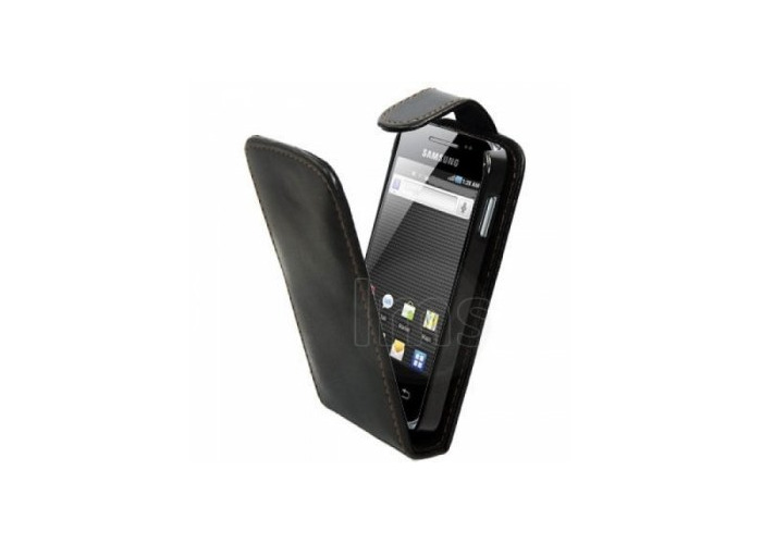Samsung Executive Leather Case for Galaxy Ace - Black - 1