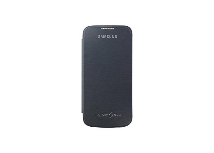 Samsung Flip Premium Case Cover for Samsung Galaxy S4 Mini - Black - 2