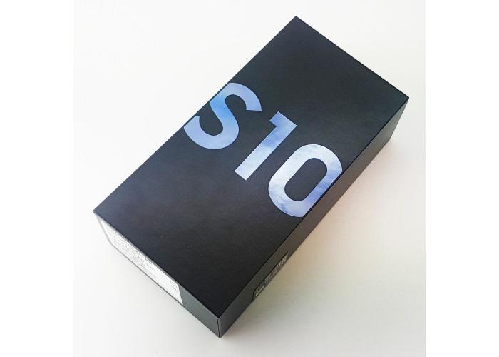 SAMSUNG GALAXY S10 G973F 128GB PRISM BLUE EMPTY BOX + ALL ACCESSORIES - 1