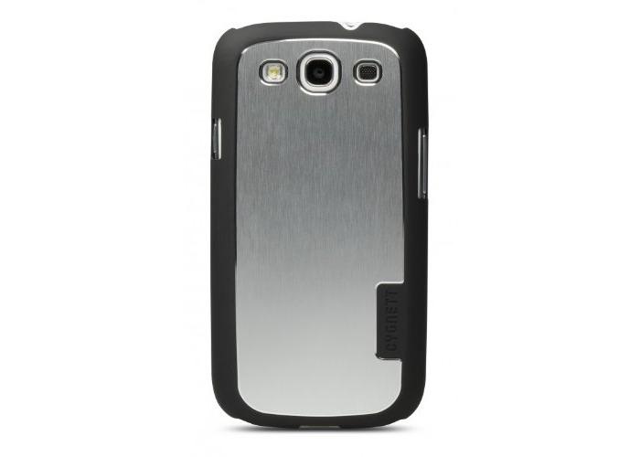 Samsung Galaxy S3 + Screen Protector Urban Shield - Rubber/Aluminium/Silver - 1