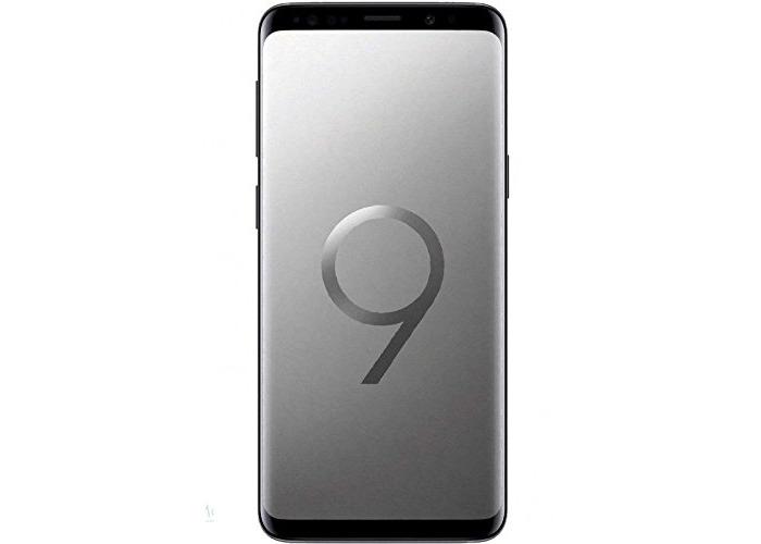 Samsung Galaxy S9 Plus Dual SIM 64GB Titanium Grey 6.2-Inch UK Sim-Free Smartphone Unlocked *Free Lite-am® USB-C Cable* - 1