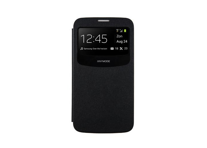 Samsung Licensed View Book Case Cover for Galaxy Mega 6.3 by Anymode - Black - 2