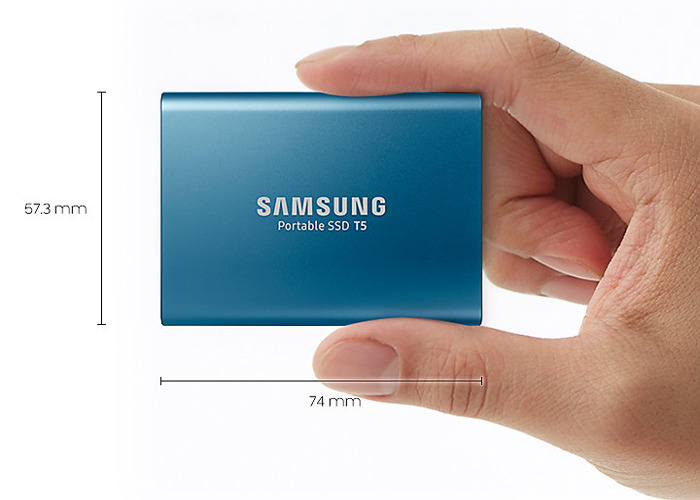 Samsung T5 500GB Portable High-speed SSD drive - 1