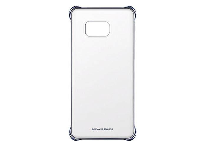 "Samsung""Clear Cover"" Case for Galaxy S6 Edge Plus SM-G928F - Blue/Black - 1"