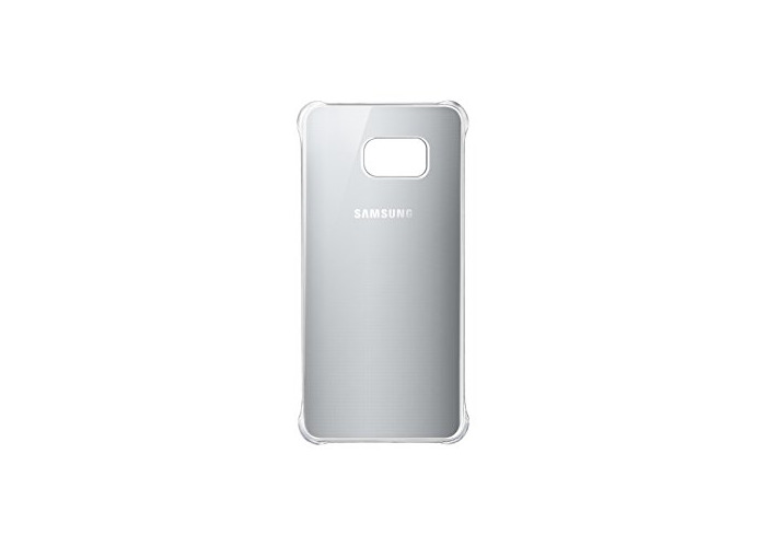 "Samsung""Glossy Cover"" Case for Galaxy S6 Edge Plus SM-G928F - Silver - 1"