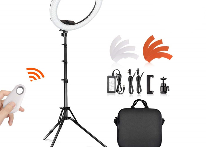 SAMTIAN 18 inch Led Ring Light Kit 5500K Dimmable 240 LED - 2