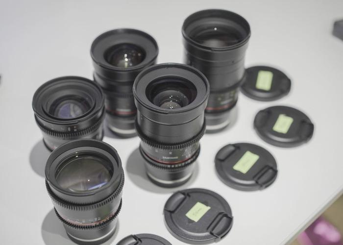 Samyang E-Mount Cinema Prime Lenses VDSLR Kit  (14,24,35,50,85,135) - 1