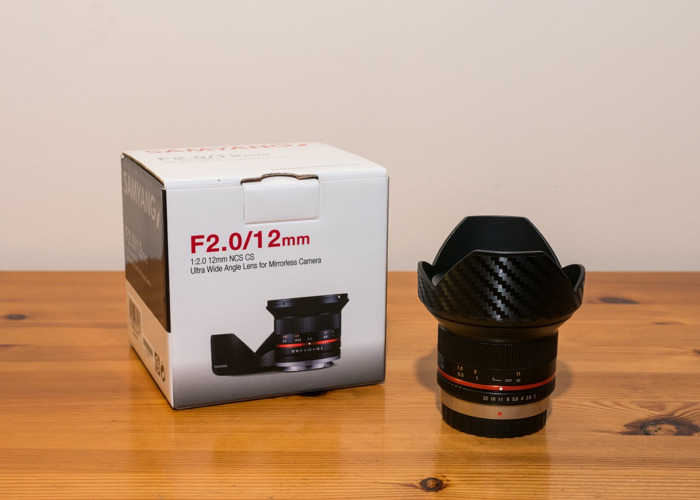 Samyang 12mm f2.0 lens for Micro Four Thirds mount - 1