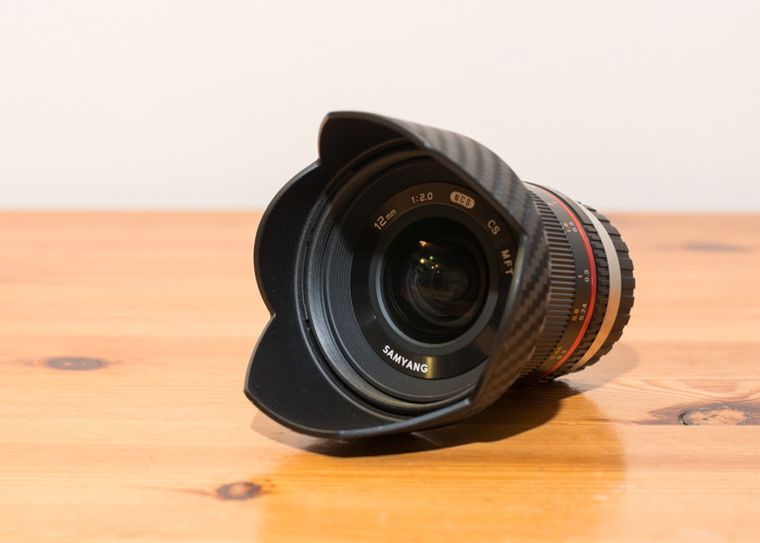 Samyang 12mm f2.0 lens for Micro Four Thirds mount - 2