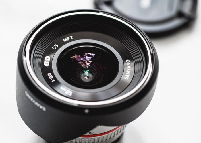 Samyang 12mm f2 0 Silver Lens - Micro 4/3