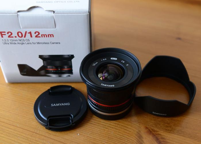 Samyang 12mm F2.0 Sony E-Mount Lens NCS CS Ultra Wide Angle - 1