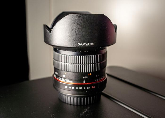 Samyang 14mm f2.8 Canon EF (+ viltrox EF-E mount adapter) - 1