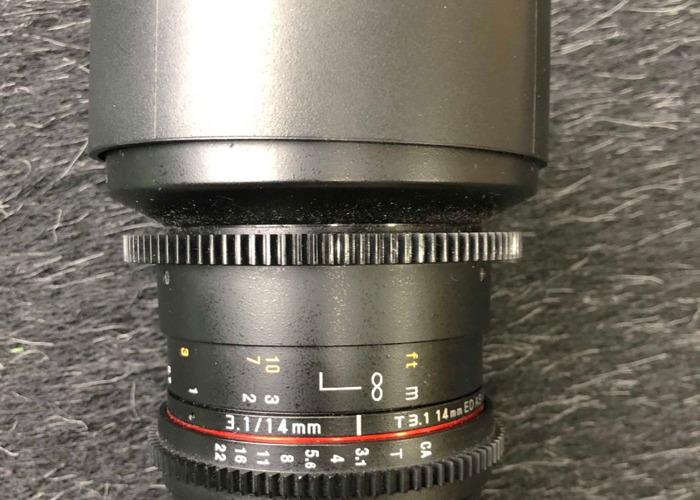 Rent Samyang 14mm T3 1 - EF mount in London