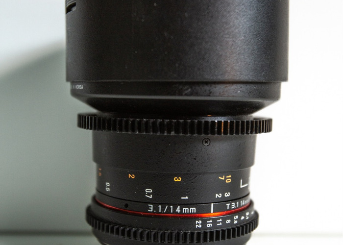 Rent Samyang 14mm T3 1 Cine Lense in London