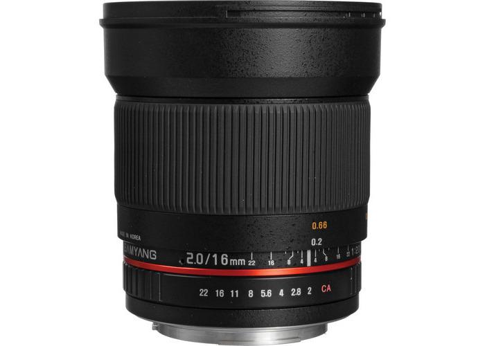 Samyang 16mm f/2.0 ED AS UMC CS Lens for Canon - 1